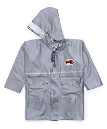Babyhug Classic Plain Raincoat - Silver
