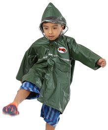 Babyhug Classic Plain Raincoat - Olive Green