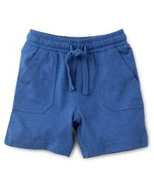 Fox Baby Shorts With Drawstring - Blue