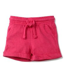 Fox Baby Shorts With Drawstring - Fuchsia
