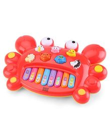 Mee Mee Cheerful Crab Piano - Red