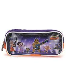 Chhota Bheem Pencil Pouch - Purple & Orange