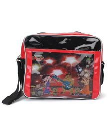 Chhota Bheem Cross Sling Bag - Black And Red
