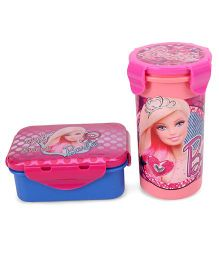 Barbie Lunch Box And Tumbler - Pink Blue