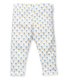Pumpkin Patch Leggings Pineapple Print - White