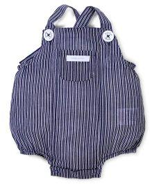 Pumpkin Patch Dungaree Style Onesie Stripes Print - Blue