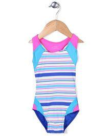 Pumpkin Patch Hollie Striped Swimsuit - Blue