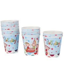 Karmallys Paper Cups Pack of 20 Happy Birthday Print - Multi color