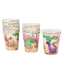 Karmallys Paper Cups Pack of 20 Dinosaurs Print - Multi Color