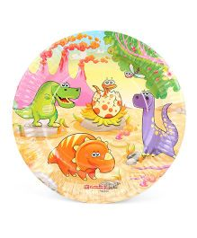 Karmallys Paper Plates Dinosaurs Print Pack of 10 - Multi Color
