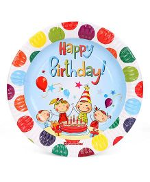 Karmallys Paper Plates Happy Birthday Pack of 10 - Multicolor