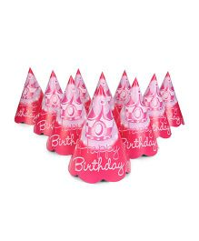 Karmallys Party Hats Happy Birthday Print Pack of 10 - Red