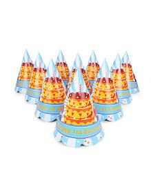 Karmallys Party Hats Birthday Cake Print Pack of 10 - Multi Color