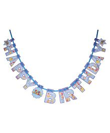 Karmally's Die Cut Birthday Banner - Blue