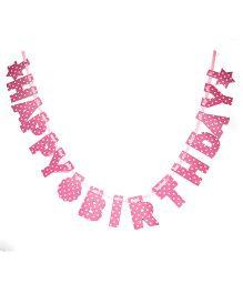 Karmallys Die Cut Birthday Banner - Pink