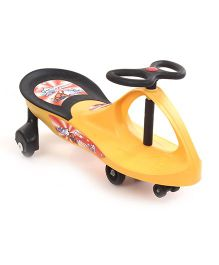 Swing Car Ride-On - Yellow & Black