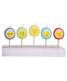 Party In A Box Emoji Candles - Pack of 5