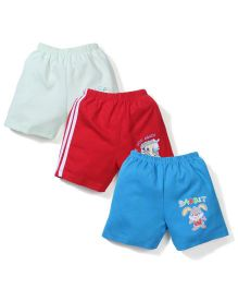 Tango Shorts Of Pack Of 3 - Blue Light Green Red