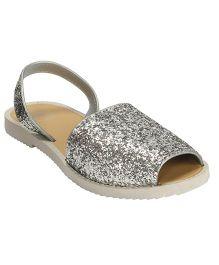 Flipside Maternity Wear Glitter Flip Flops - Silver