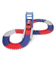MaxTrax Metro City Track Set With Motorized Car Multicolor - 140 Pieces