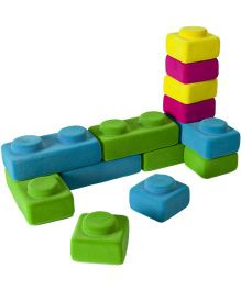 Rubbabu Rubbablox Basix 10 Large And 10 Small Blocks - Multi Color