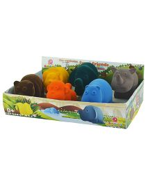 Rubbabu Wild Animals Set of 6 - Multi Color