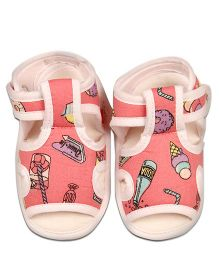 Kidofy Softy Print Pair Of Sandals - Pink