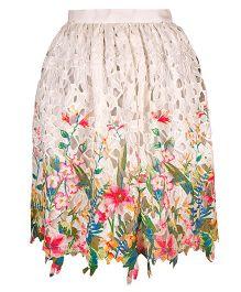 Mignon Floral Crochet Skirt For Moms - Multicolor