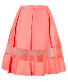 Mignon Long Panel Skirt For Moms - Coral Pink