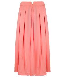 Mignon Georgette Pleated Long Skirt For Moms - Peach