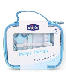 Chicco Happy Hands My First Nail Care Set Blue - 9 Pieces
