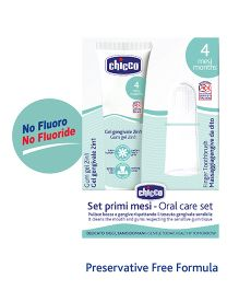 Chicco Gum Gel And Finger Toothbrush Set