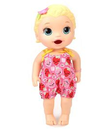 Baby Alive Snackin Lily Doll Pink - Height 30.5 cm
