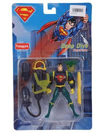 Funskool Deep Dive Superman Acrion Figure With Accessories Blue - 12 cm