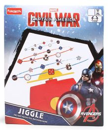 Marvel Funskool Captain America War Jiggle - Multi Color