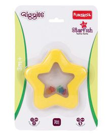 Funskool Giggles Starfish Teether Rattle - Yellow