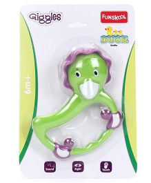 Giggles Duck Rattle - Green