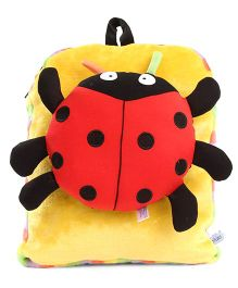 Tickles Plush Bag Ladybug Applique - Red Yellow