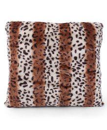 Tickles Animal Print Cushion - White Brown Black