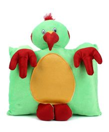 Tickles Parrot Design Cushion - Green