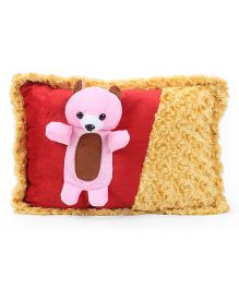 Tickles Teddy Design Cushion - Red And Yellow