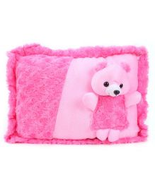 Tickles Teddy Design Cushion - Pink