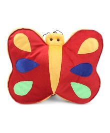 Tickles Butterfly Design Cushion - Red