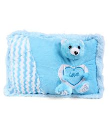 Tickles Teddy Love Design Plush Cushion - Blue