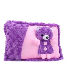 Tickles Cute Teddy Design Cushion - Purple And Pink