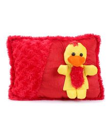Tickles Cute Chick Design Cushion - Red And Yellow