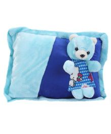 Tickles Teddy Design Cushion - Blue
