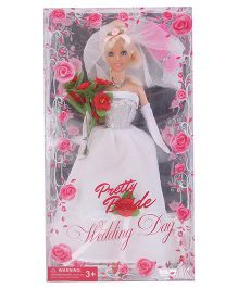 Tickles Pretty Bride Wedding Doll White - 11 Inches