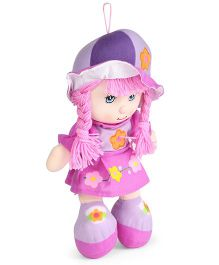 Tickles Beautiful Happy Floral Print Candy Doll Purple - 36 cm