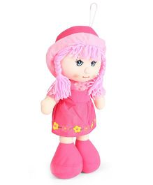 Tickles Gorgeous Smiling Candy Doll Floral Print Pink - 13 Inches